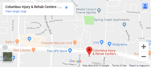 Map of North Columbus Chiropractors