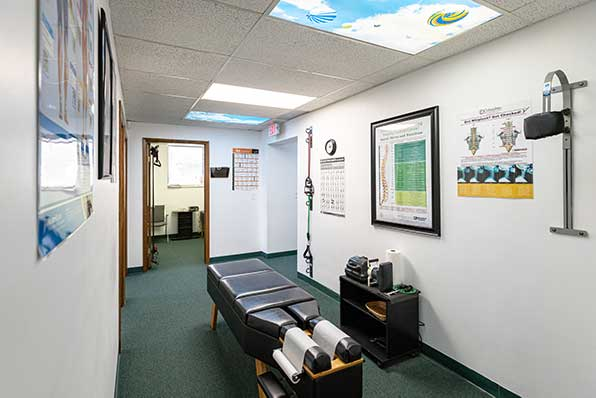 Chiropractic North Columbus OH Adjustment Room